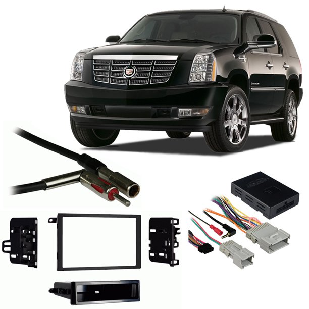 cadillac radio wiring harness fits cadillac escalade 03 06 double din stereo harness radio  fits cadillac escalade 03 06 double din
