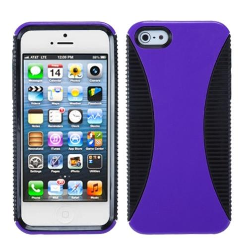 Insten Purple/Black Mixy Case For iPhone SE 5s