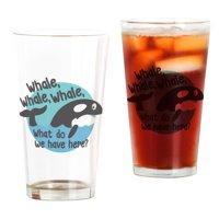 CafePress Whale Whale Whale Pint Glass, Drinking Glass, 16 oz. CafePress