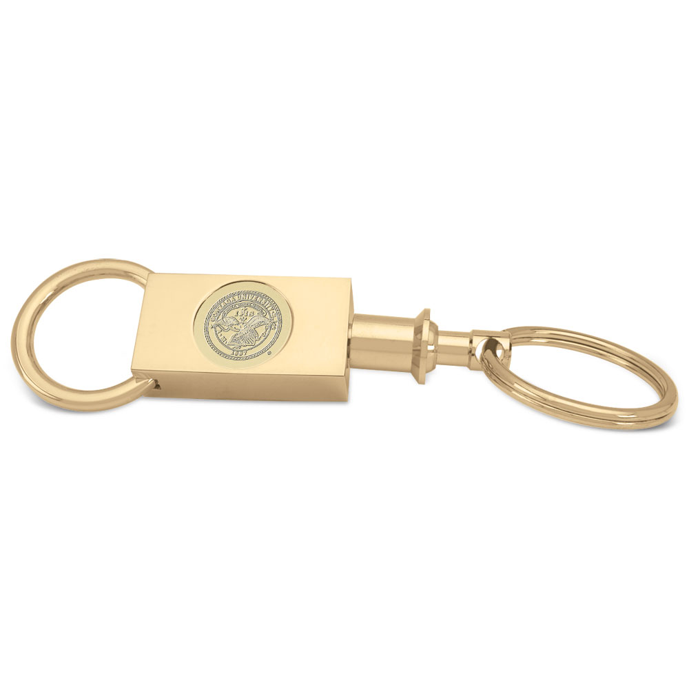 Gonzaga Gold Two-section Key Ring by