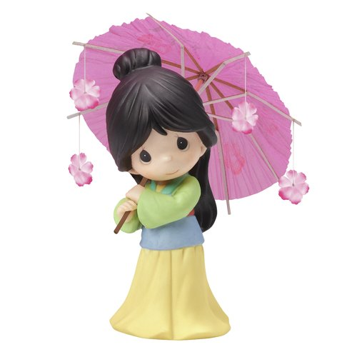 Precious Moments, Disney Showcase Collection, Every Flower Blooms In Its Own Time Bisque Porcelain Figurine, 154013