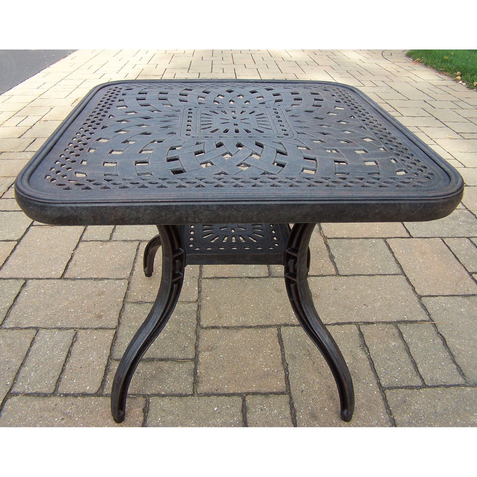 Oakland Living Belmont 24 in. Square Patio Side Table