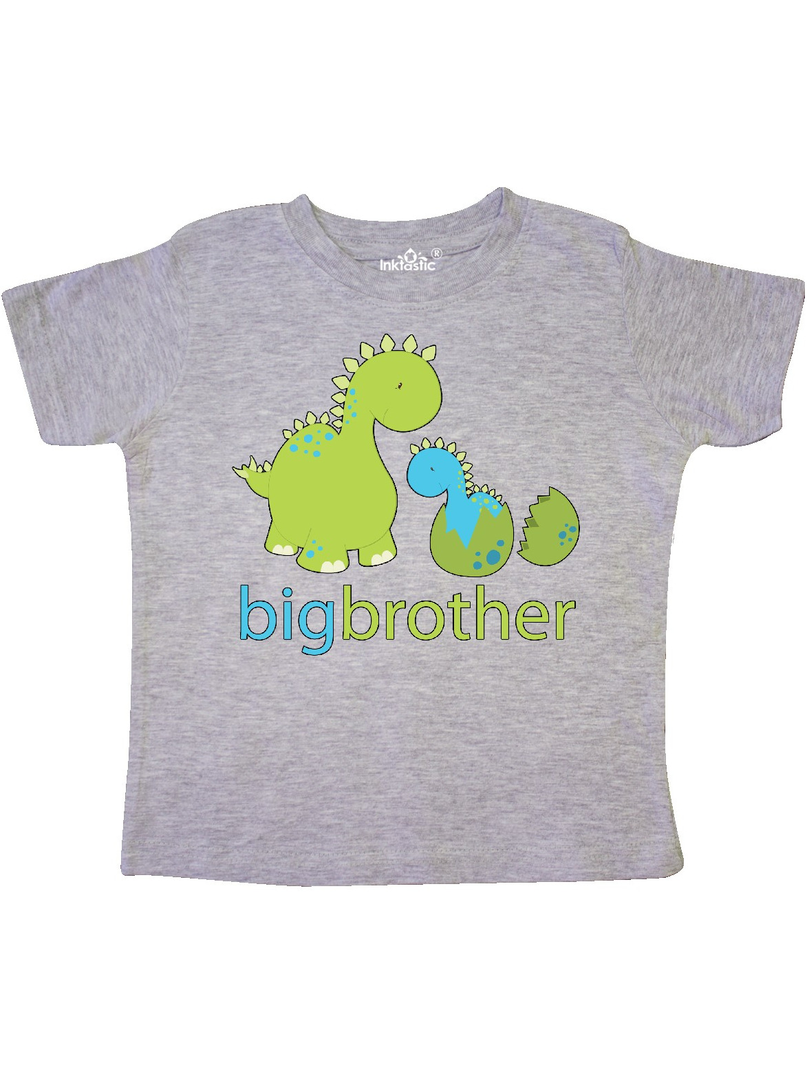 Happy Dinosaur New Big Brother Toddler T-Shirt