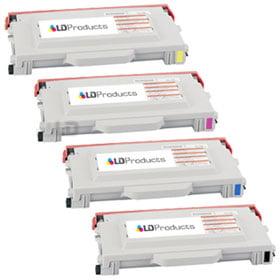 LD Lexmark compatible black 20K1403, cyan 20K1400, magenta 20K1401, and yellow 20K1402 Laser Toner cartridges