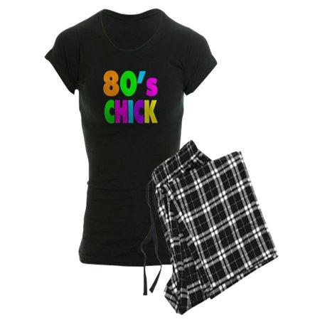 d01a8a729c6 CafePress - Neon Colors 80'S Chick - Women's Dark Pajamas