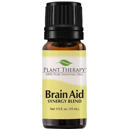 Plant Therapy Essential Oil | Brain Aid Synergy | Focus & Attention Blend | 100% Pure, Undiluted | 10 mL (1/3 oz)