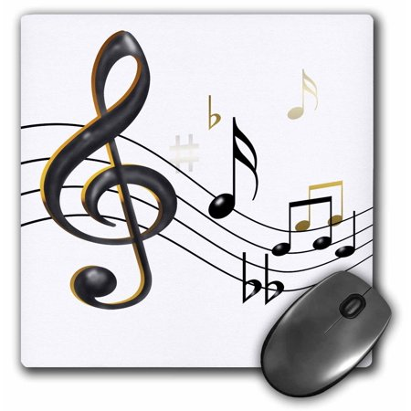 3dRose Music notes Clef, sixteenth, quarter notes, beamed ...