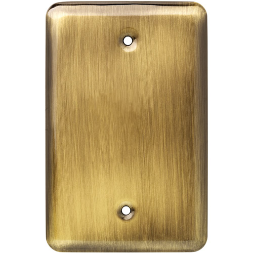 Brainerd Rounded Corner Single Blank Wall Plate, Available in Multiple Colors
