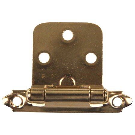 06 Antique Brass Angle - JR Products 70585 Self-Closing Flush Mount Hinge - Antique Brass