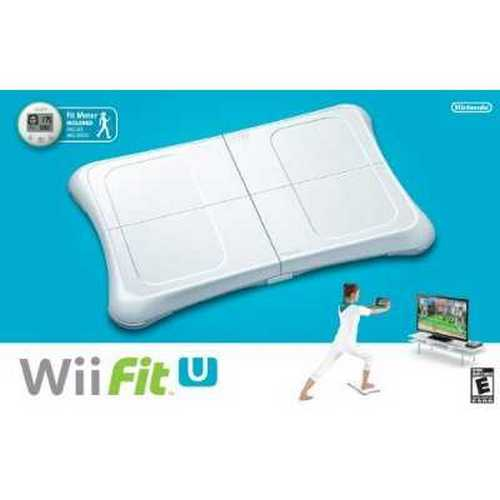 Nintendo Wii Fit U Video Game Fitness Exercise Balance Board & Fit Meter Bundle