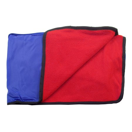 New Camping Picnic Outdoor Water Resistant 4 in 1 Blanket Throw Black/Red