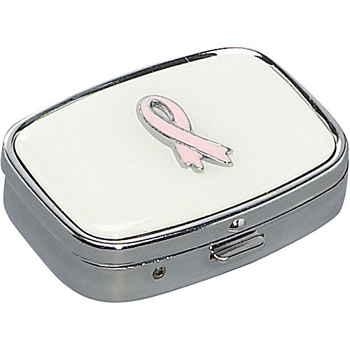 Budd Leather Rectangular Pill Case (American Breast Cancer Foundation)