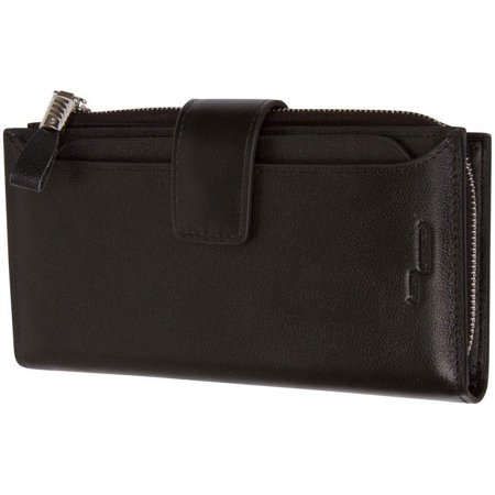 Genuine Leather Womens Wallet With Removable Credit Card Case Card Holder RFID Blocking
