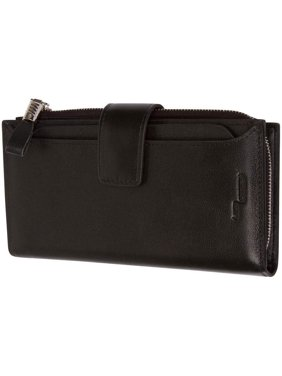 Product Image Genuine Leather Womens Wallet With Removable Credit Card Case Card Holder RFID Blocking