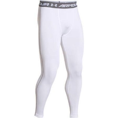 8f969a51f1ff0 Under Armour - Under Armour Men's HeatGear Armour Compression Leggings  (White (100) / Graphite, Large) - Walmart.com