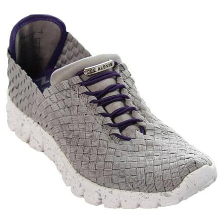 e22794b5c Zee Alexis - Zee Alexis Women's Danielle Woven Athletic Shoe Grey Purple 39  US 8.5 - Walmart.com