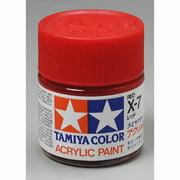 X7 Red Gloss Acrylic 23ml (3/4oz) Bottle Hobby Paint Tamiya