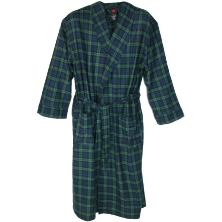 Men's Flannel Robe Tall Sizes - Mens Tall Robe