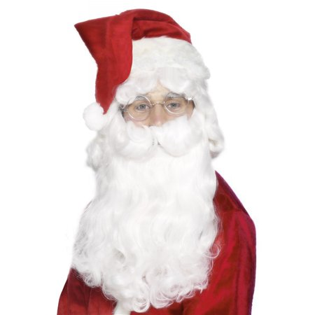 Deluxe Santa Beard Adult Costume Accessory - Professional Santa Beard