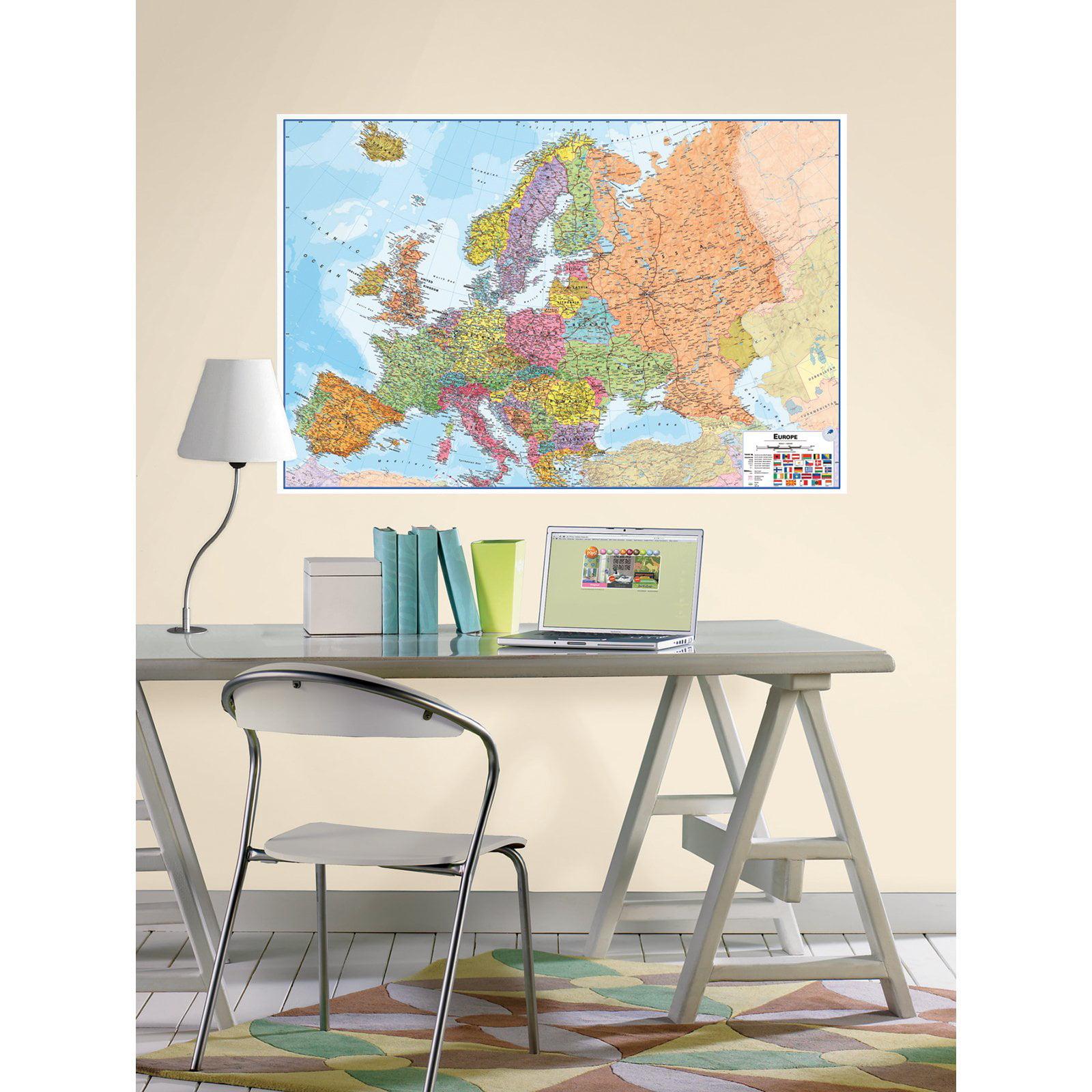 WallPops Europe Dry Erase Map Decal