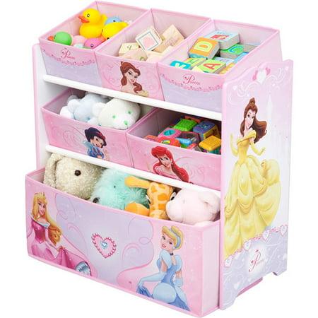 Disney Princess Multi Bin Toy Organize Walmart Com