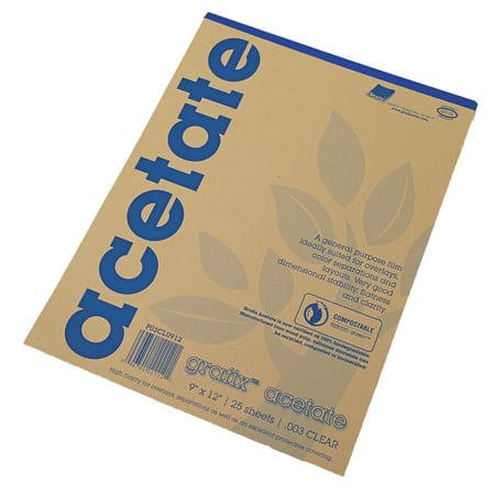 Acetate Overlay (Grafix Clear Acetate Film, .003mm, 9in x 12in )