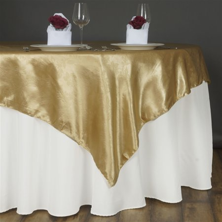 "BalsaCircle 72"" x 72"" Embossed Satin Overlays - Wedding Party Reception Catering Linens Dinner Banquet Event Decorations"