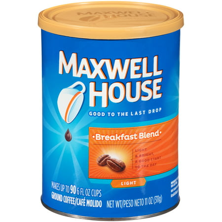 (3 Pack) Maxwell House Breakfast Blend Ground Coffee, 11 oz Can (Halloween Coffee Can Crafts)