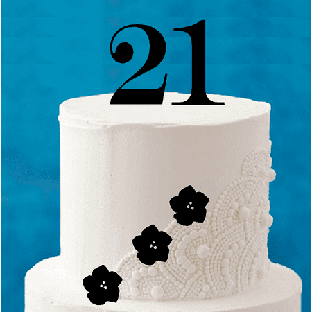 Twenty 21st Birthday Tall 4inch Cake Topper