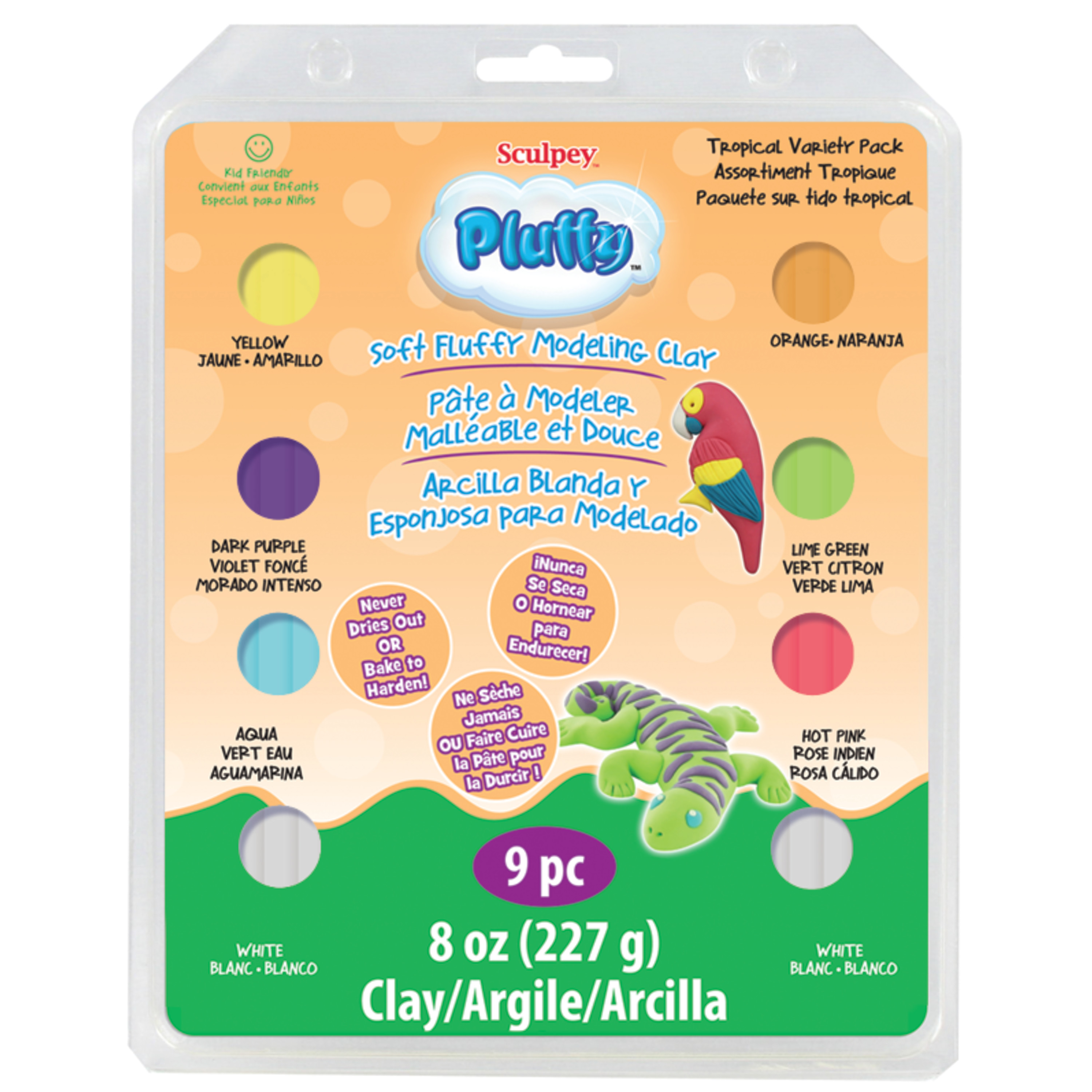 Sculpey Pluffy Variety Pack, Tropical