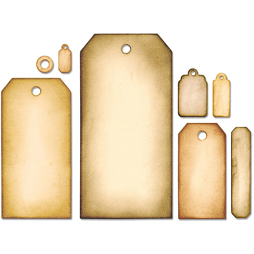 Sizzix Framelits Dies By Tim Holtz, 8pk, Tag Collection