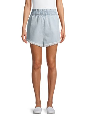 Material Girl Juniors' High Rise Frayed Denim Shorts