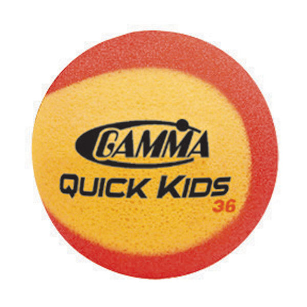 Gamma Sports Quick Kids 36 Foam Tennis Balls Twelve Pack