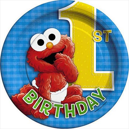 Sesame Street 1st Birthday Small Paper Plates (8ct)](First Birthday Plates)