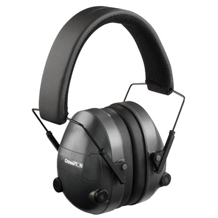 Champion Black Adjustable Protective Electronic Ear Muffs 25 NRR -