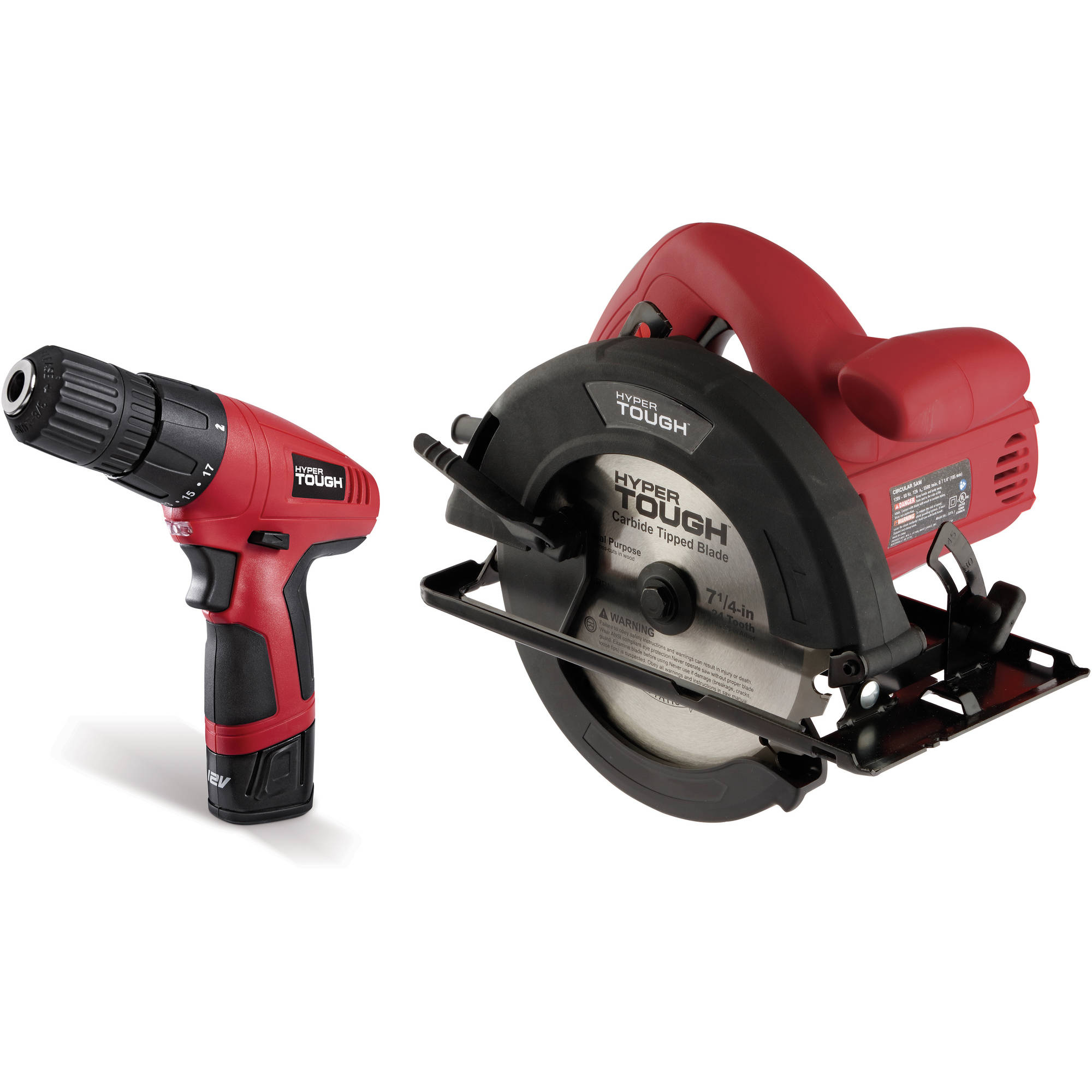 Hyper Tough 7351 12-Volt Lithium Ion Drill-Driver and 12-Amp Circular Saw Combo Kit
