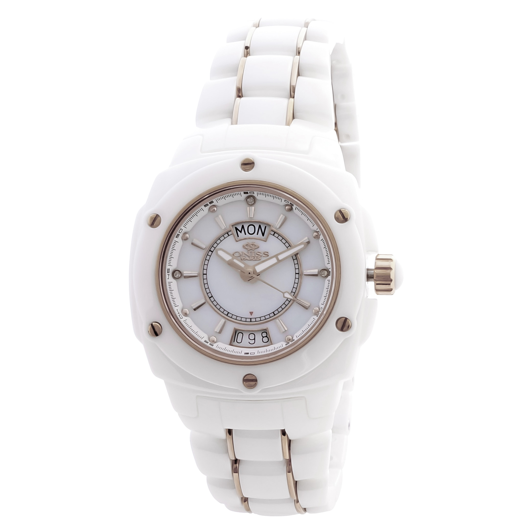 "Oniss Paris Women's  ""Galaxy"" Collection White Watch"