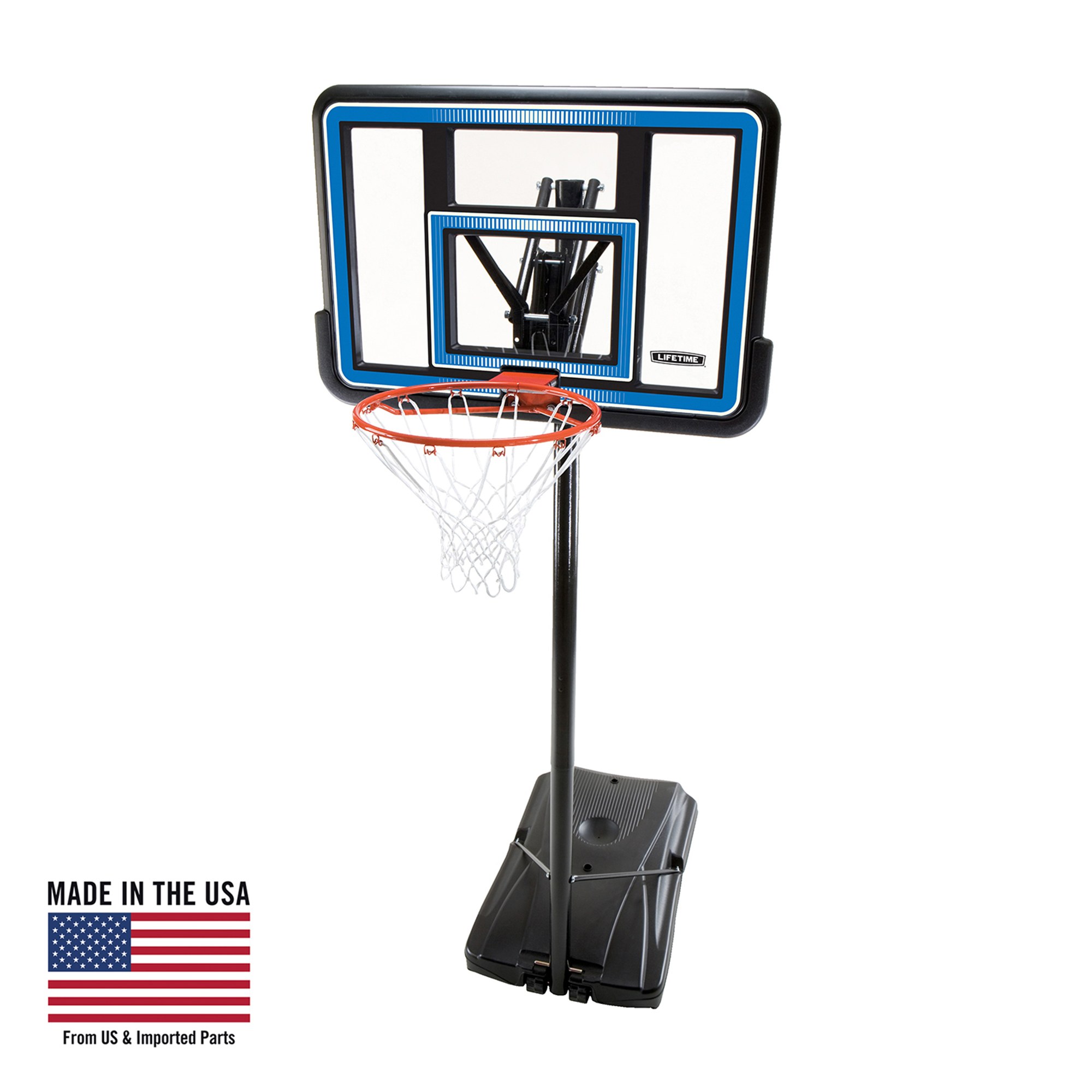 Lifetime Adjustable Portable Basketball Hoop (44-Inch Polycarbonate), 90023
