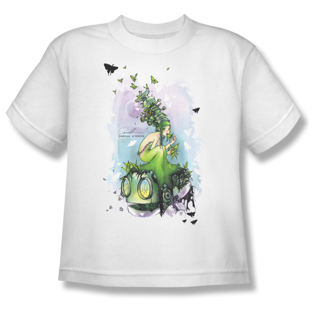 Helmetgirls Men's  Butterflies Youth T-shirt White