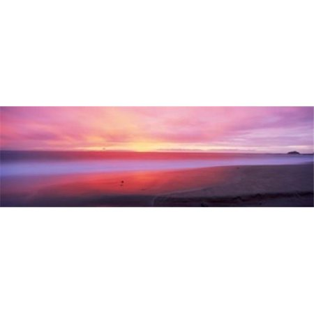 Panoramic Images PPI137185L Sunset light painting waves across sandy shore on beach  Laguna Beach  California  USA Poster Print by Panoramic Images - 36 x 12 - image 1 of 1