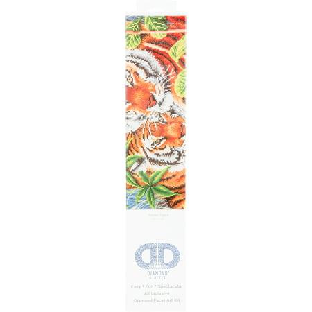 Faceted Tiger - Diamond Dotz Diamond Embroidery Facet Art Kit 23.5
