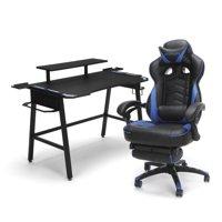 RESPAWN Gaming Chair (RSP-110) and Gaming Desk (RSP-1010) Bundle, eSports Gaming Battlestation, in Blue (PKG-W-R02-BL-BLU)