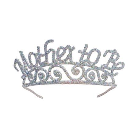 Mother Costume (Pack of 6 Silver Glitter Encrusted Metal