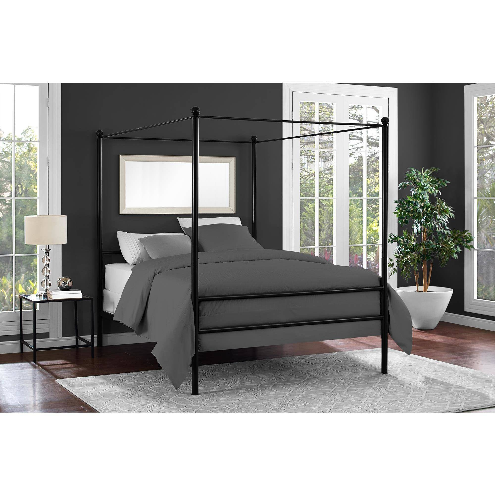 Mainstays metal canopy bed multiple colors multiple - Pictures of canopy beds ...