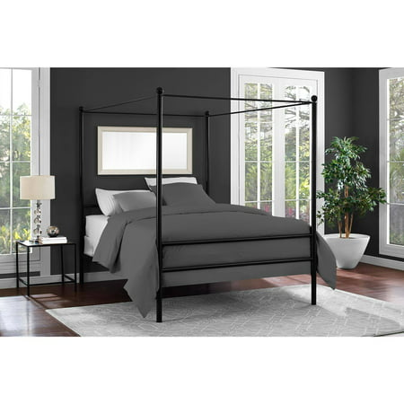- Mainstays Metal Canopy Bed, Multiple Colors, Multiple Sizes