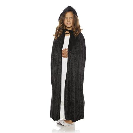 Long Velvet Panne Cape (Panne Girls Fairytale Princess Costume Accessory Long Cape)