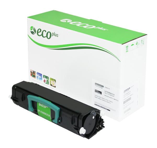 ECOPlus ™ Remanufactured Toner Cartridge for Lexmark E260A11A, E260A21A, X463A11G, X463A21G (Premium Quality TONER CTG, BLACK, 3.5K YIELD)