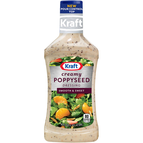 Kraft Salad Dressing: Dressing & Dip Creamy Poppyseed, 16 Fl oz