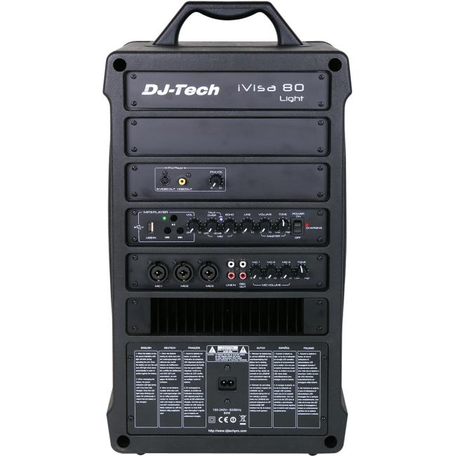 Dj-tech IVISA80LIGHT 80 Watts Max Wireless Portable Pa Sy...