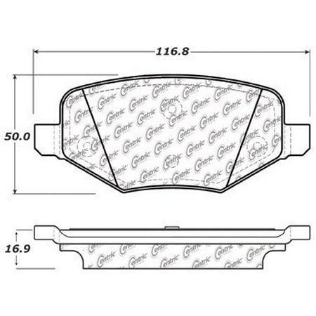Go-Parts » 2011-2018 Ford Explorer Rear Disc Brake Pad Set for Ford Explorer (Base / -